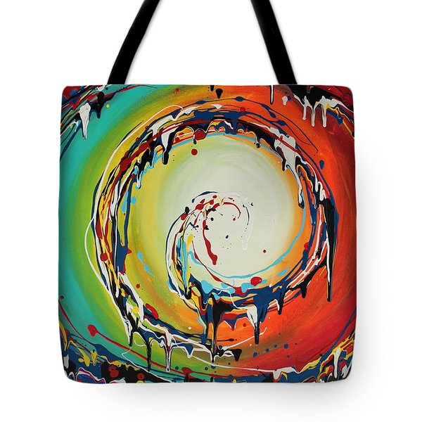 Colorful Swirls Tote Bag