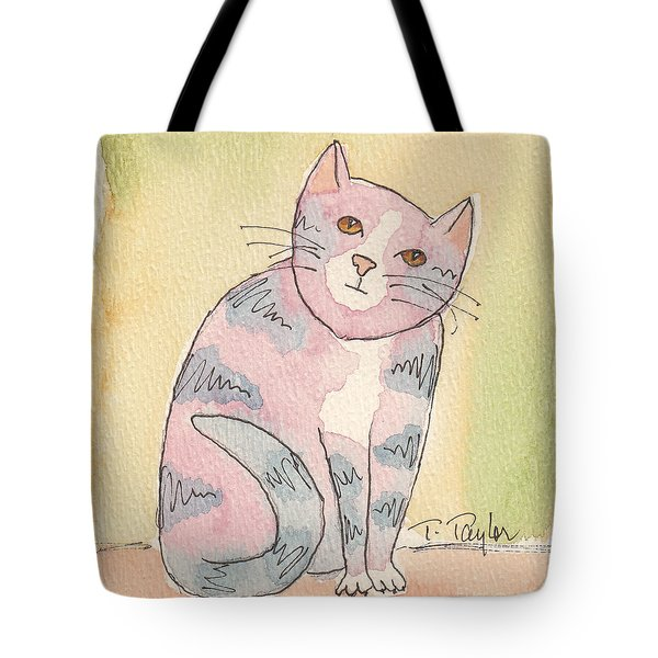 Colorful Tabby Tote Bag