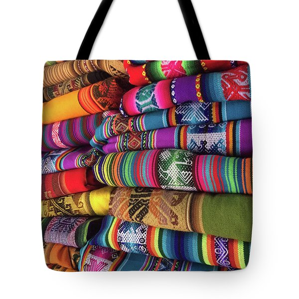 Colorful Tablecloths Tote Bag