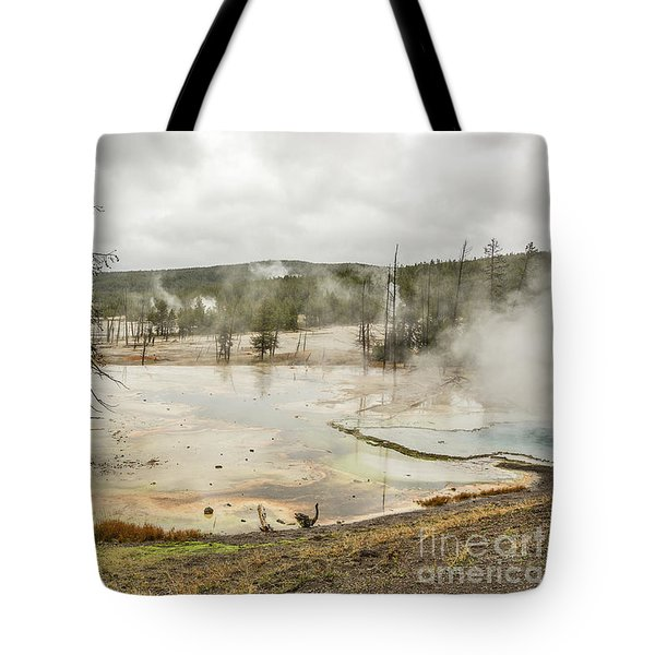 Tote Bag featuring the photograph Colorful Thermal Pool by Sue Smith
