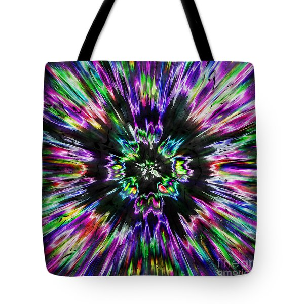 Colorful Tie Dye Abstract Tote Bag by Phil Perkins