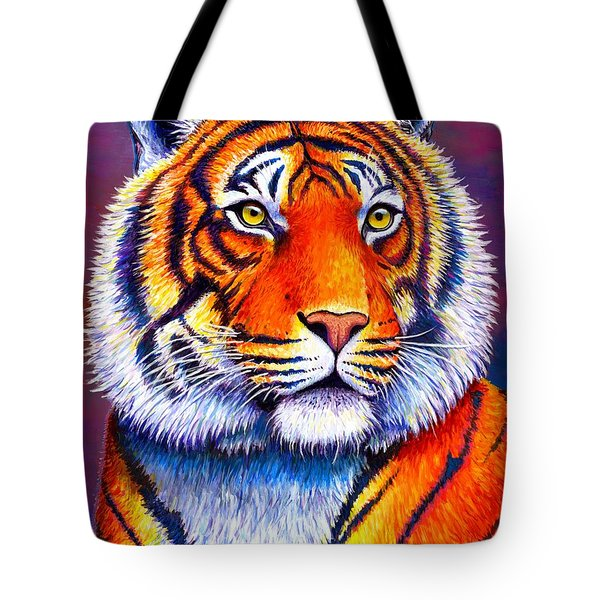 Fiery Beauty - Colorful Bengal Tiger Tote Bag