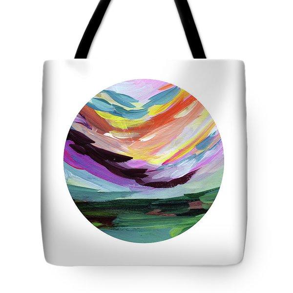 Colorful Uprising 5 Circle- Art By Linda Woods Tote Bag