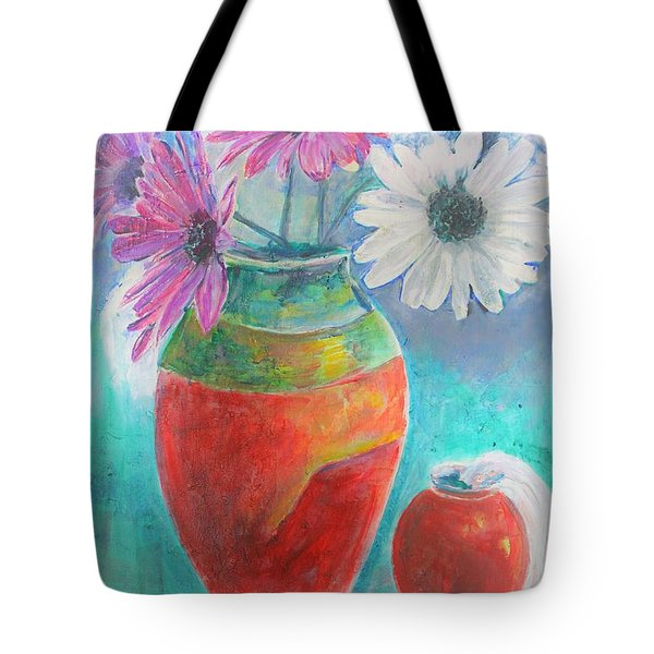 Colorful Vases And Flowers Tote Bag