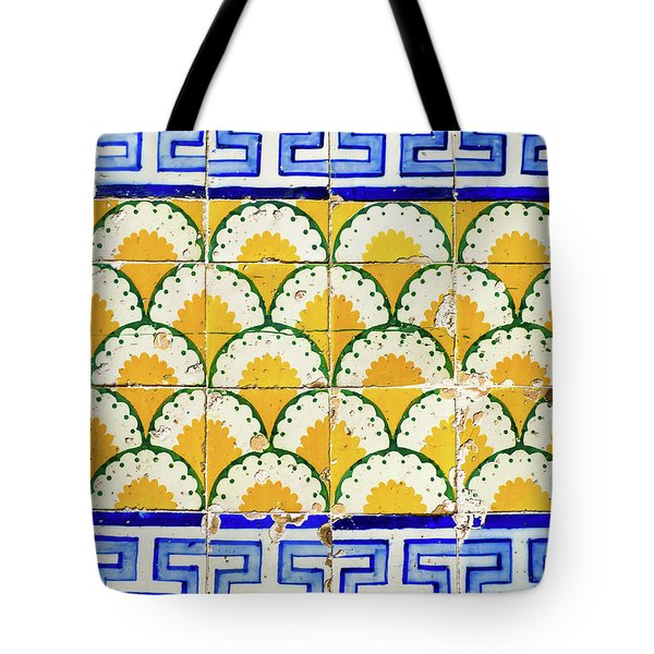 Colorful Vintage Portuguese Tiles Tote Bag