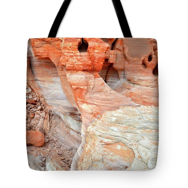 Tote Bag featuring the photograph Colorful Wall Of Sandstone In Valley Of Fire by Ray Mathis