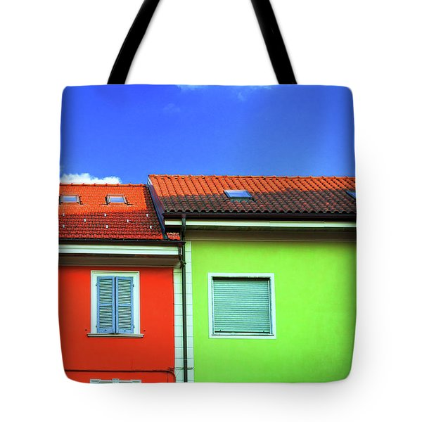 Colorful Walls And A Cloud Tote Bag by Silvia Ganora