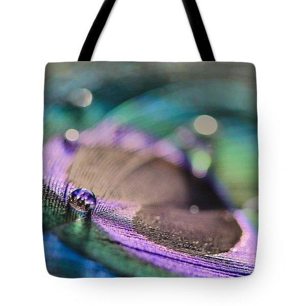 Colorful Water Droplet Tote Bag