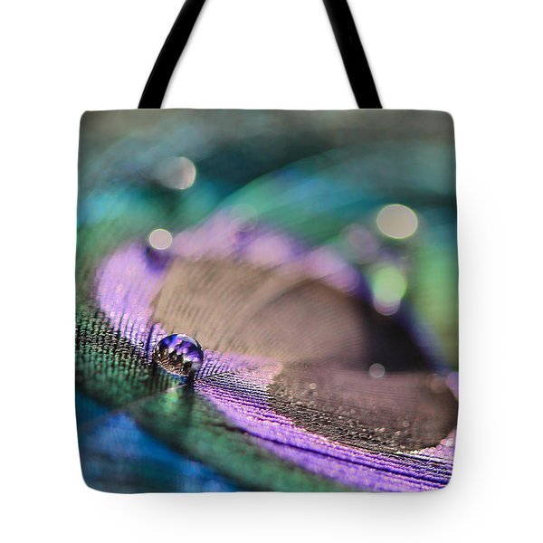 Colorful Water Droplet Tote Bag