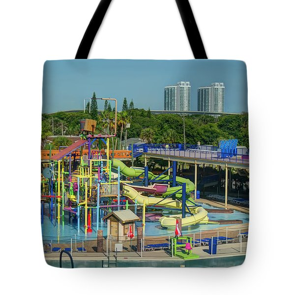 Colorful Water Park Tote Bag