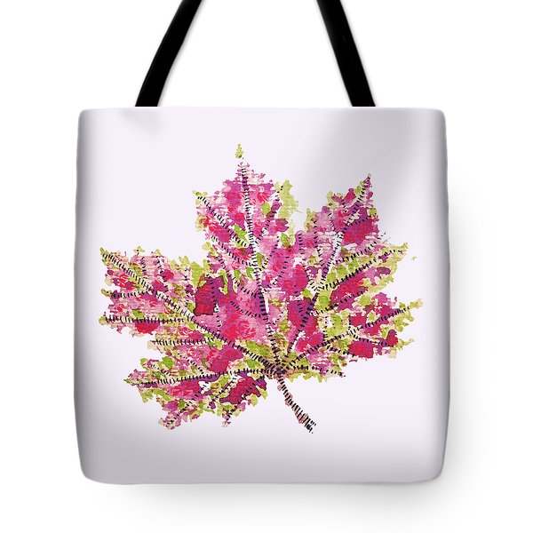 Colorful Watercolor Autumn Leaf Tote Bag