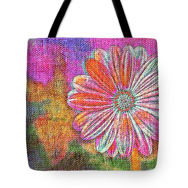 Tote Bag featuring the painting Colorful Watercolor Flower by Lita Kelley