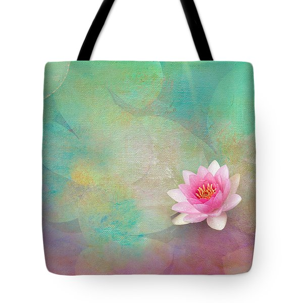 Colorful Waterlily Tote Bag by Carolyn Dalessandro