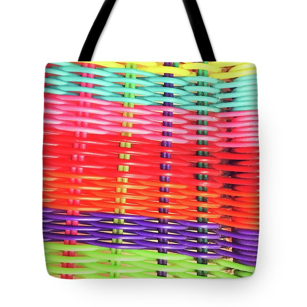 Colorful Wicker Background Tote Bag