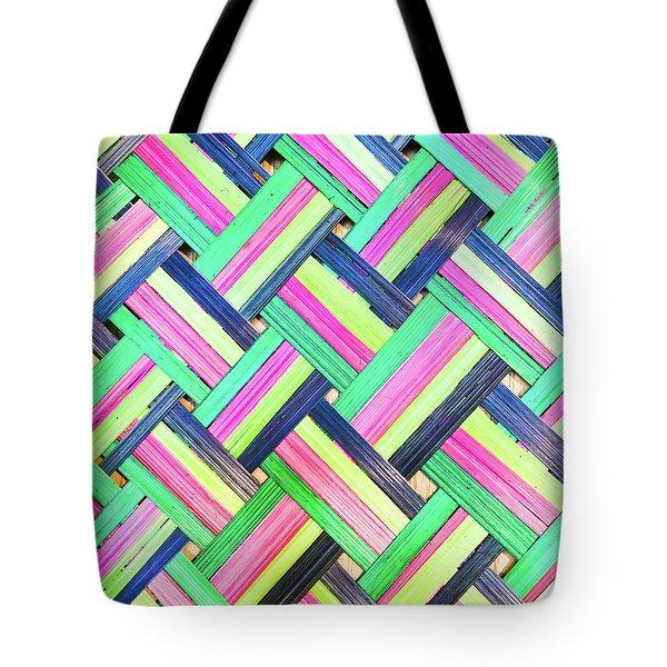 Colorful Wicker Tote Bag