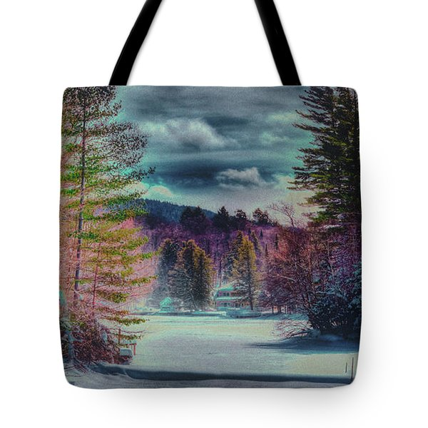 Tote Bag featuring the photograph Colorful Winter Wonderland by David Patterson