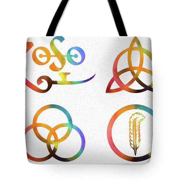 Colorful Zoso Symbols Tote Bag