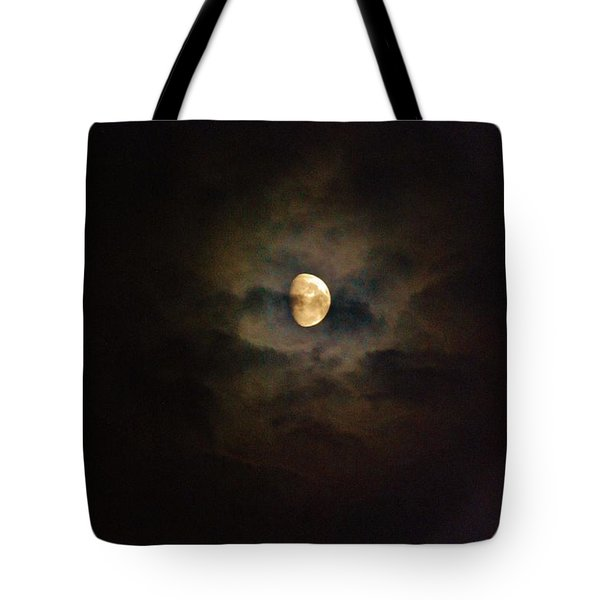 Tote Bag featuring the photograph Colorfull Moon by Ramona Whiteaker