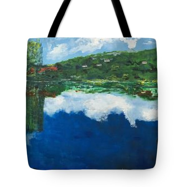 Coloring Holland V - Wall Four Tote Bag by Belinda Low