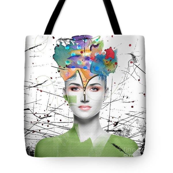 Tote Bag featuring the digital art Colorist by Nola Lee Kelsey