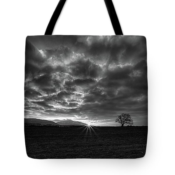 Colorless Sunrise Tote Bag