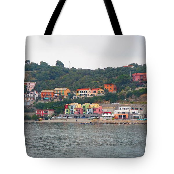Colors Along The Coast Tote Bag by Christin Brodie