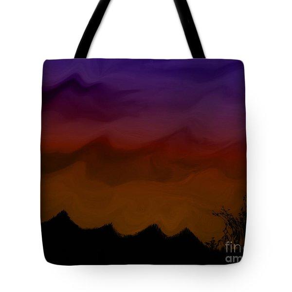 Colors At Dusk Tote Bag
