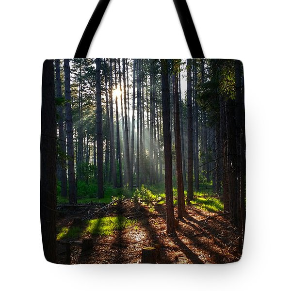 Colors Cuts And Lines Tote Bag