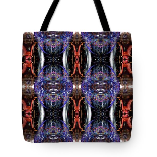 Tote Bag featuring the digital art Colors Eye 5 by Michelle Audas