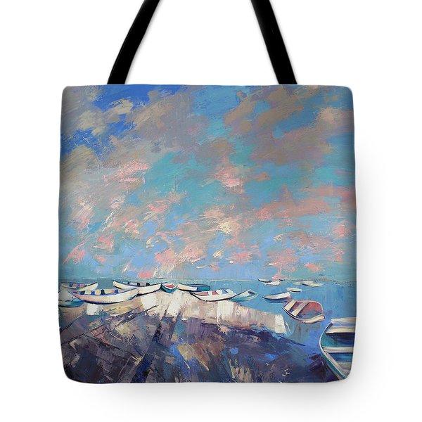 Colors Flamingo Tote Bag