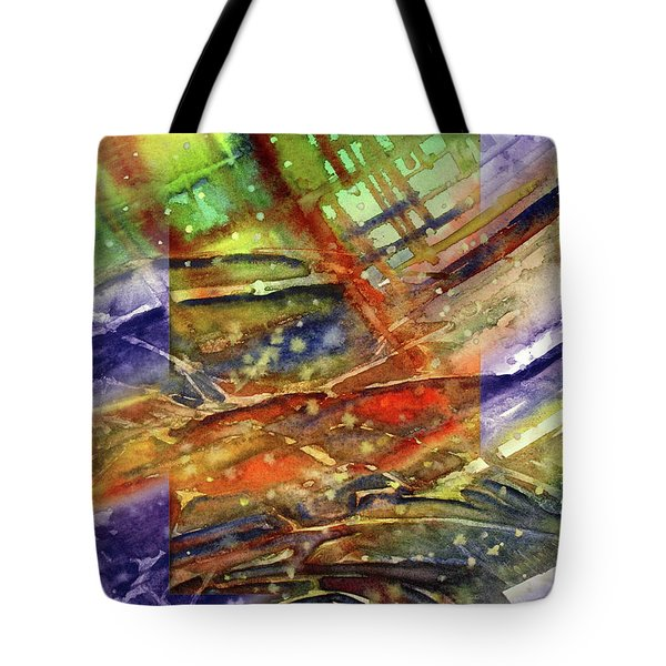 Colors Interrupting Tote Bag by Allison Ashton
