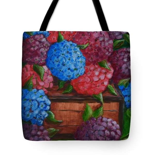 Tote Bag featuring the painting Colors by Melvin Turner