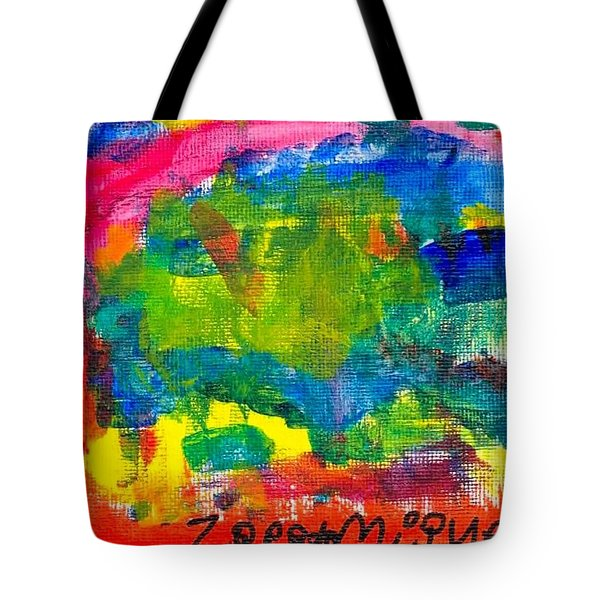 Tote Bag featuring the painting Colors by Artists With Autism Inc