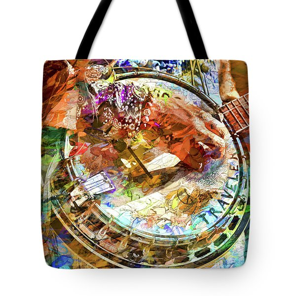 Colors Of A Banjo Busker Tote Bag