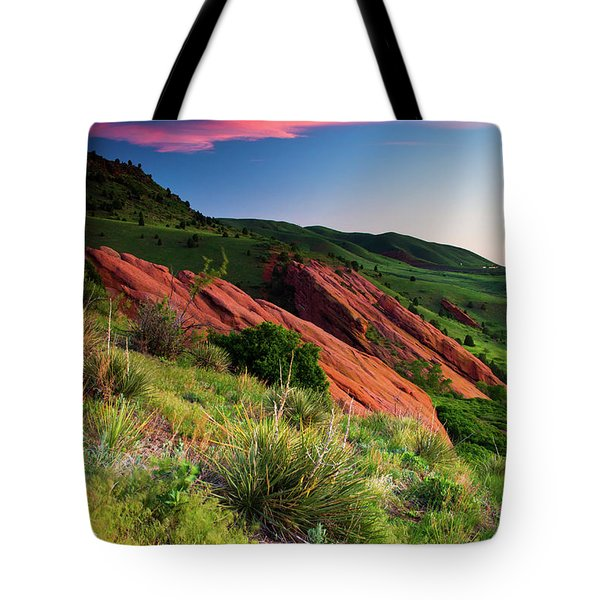 Tote Bag featuring the photograph Colors Of A Colorado Spring Sunrise by John De Bord
