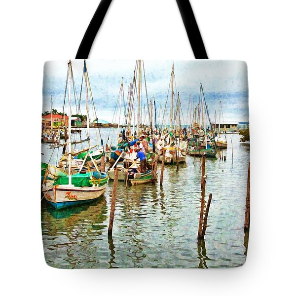 Colors Of Belize - Digital Paint Tote Bag