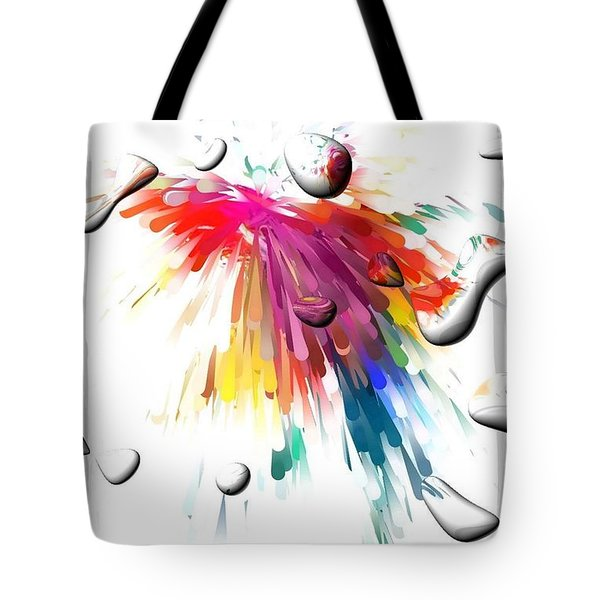 Colors Of Explosions By Nico Bielow Tote Bag by Nico Bielow