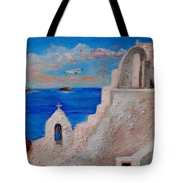 Colors Of Greece Tote Bag