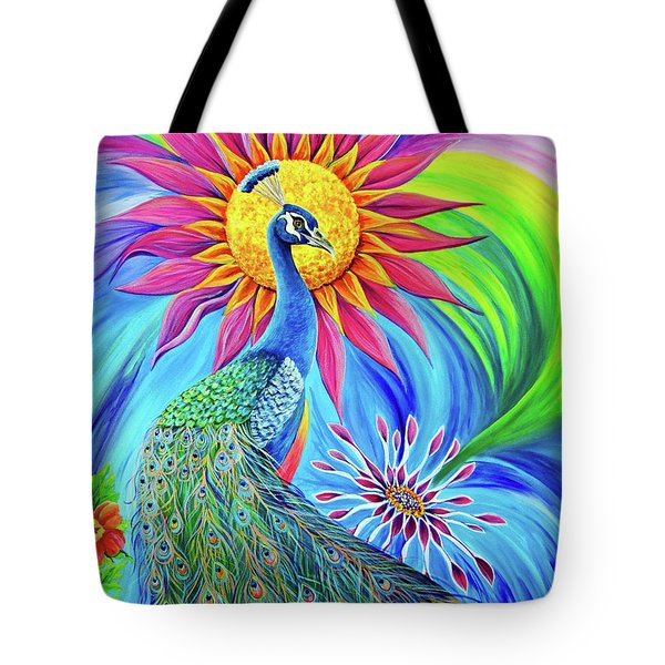 Tote Bag featuring the painting Colors Of His Splendor by Nancy Cupp