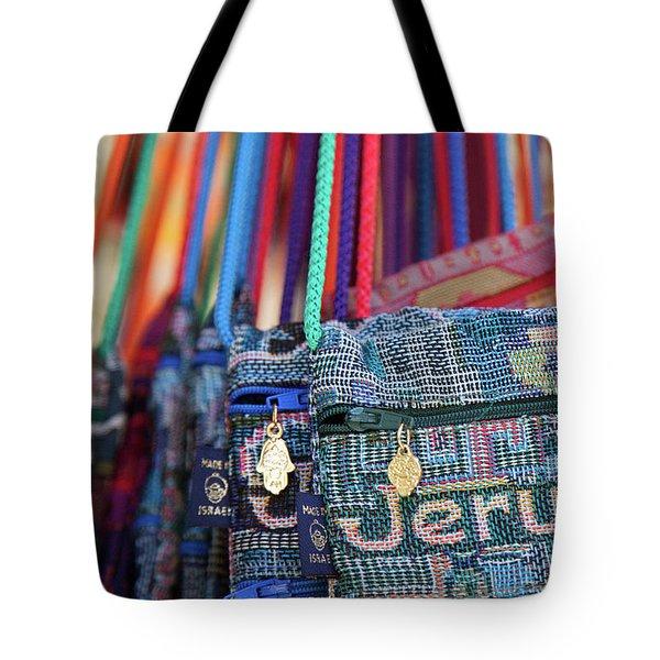 Colors Of Jerusalem Tote Bag by Yoel Koskas