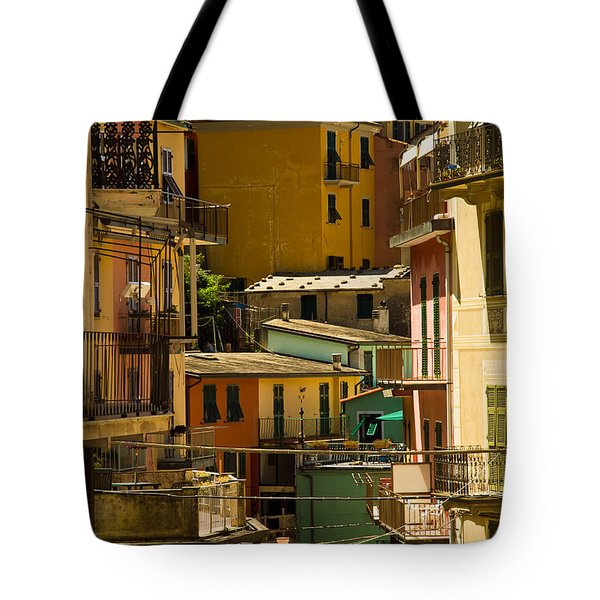 Colors Of Manarola Italy Tote Bag
