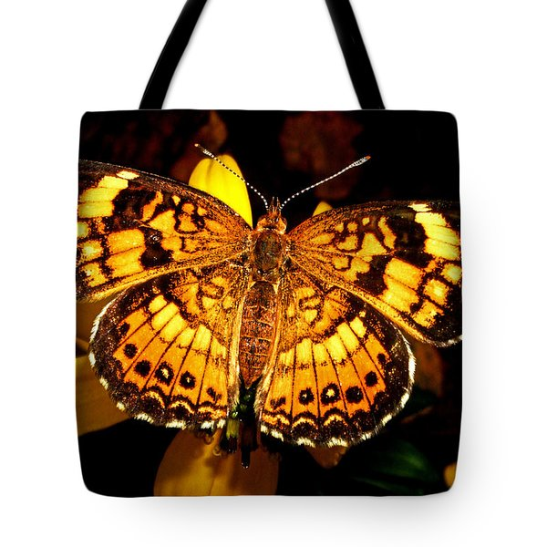 Colors Of Nature - Painted Lady Butterfly 002 Tote Bag