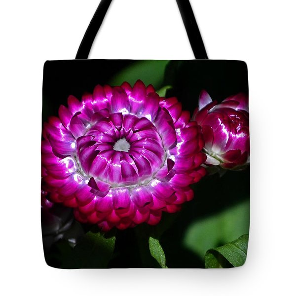 Tote Bag featuring the photograph Colors Of Nature - Strawflower 005 by George Bostian