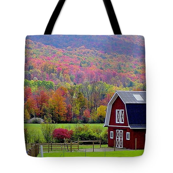 Colors Of New England Tote Bag by Rick  Monyahan
