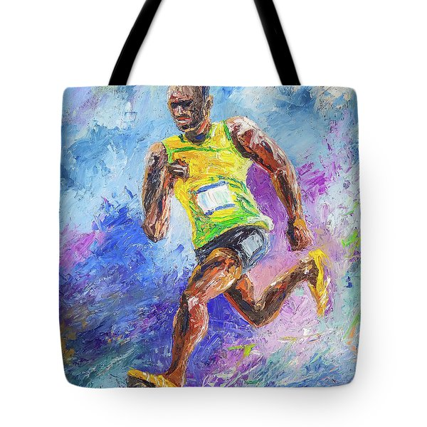 Colors Of Speed Tote Bag