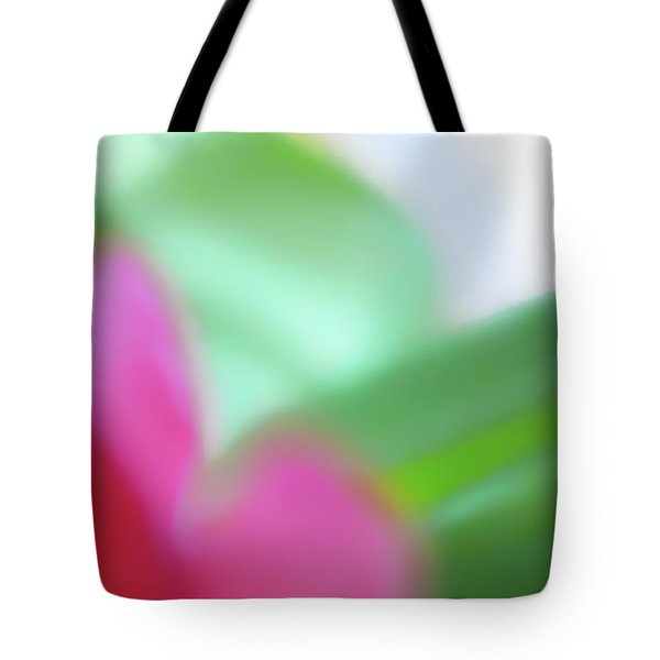 Tote Bag featuring the photograph Colors Of Spring Abstract No 2 by Menega Sabidussi