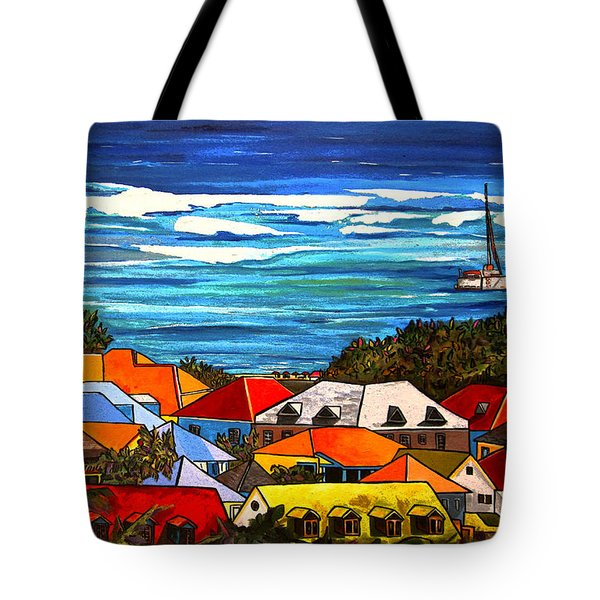 Colors Of St Martin Tote Bag by Patti Schermerhorn