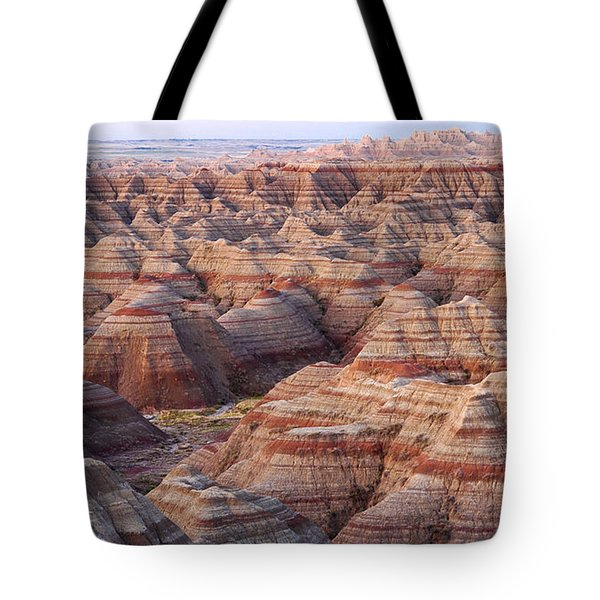 Colors Of The Badlands Tote Bag by Monte Stevens