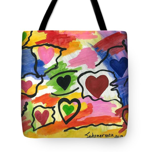 Colors Of The Heart Tote Bag