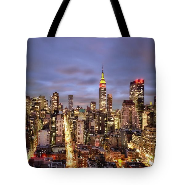 Colors Of The Night Tote Bag by Evelina Kremsdorf